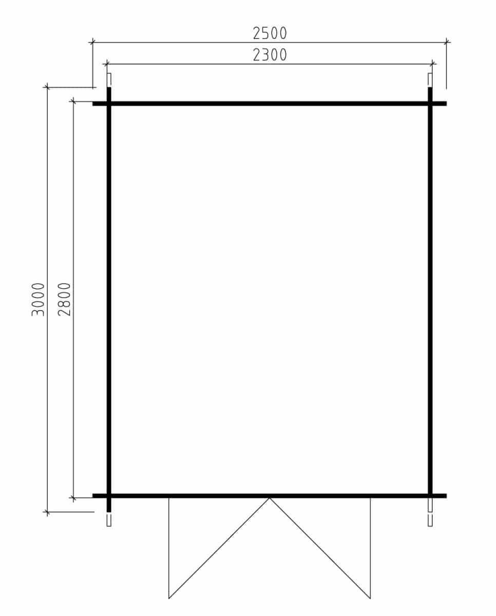ger tehaus aus holz andy l 6 2m 28mm 2x3 hansagarten24. Black Bedroom Furniture Sets. Home Design Ideas