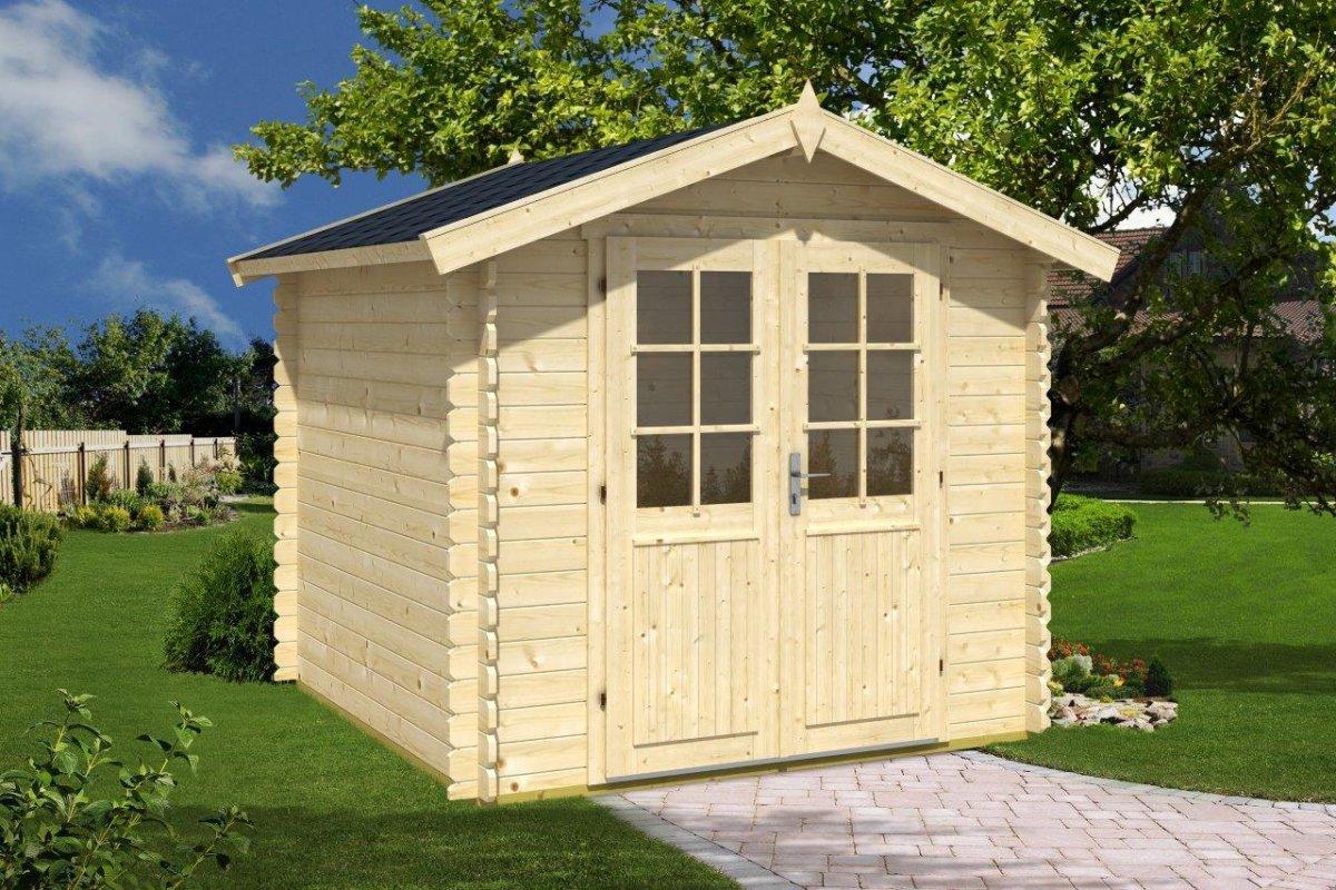 kleines gartenhaus niedriger preis und selber bauen hansagarten24. Black Bedroom Furniture Sets. Home Design Ideas