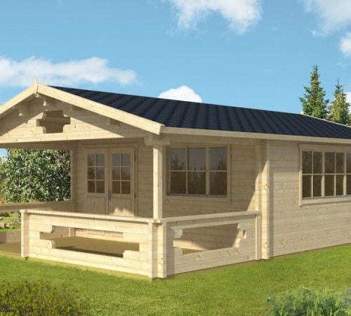 gartenhaus mit veranda armin xl 25m 70mm 5x5. Black Bedroom Furniture Sets. Home Design Ideas
