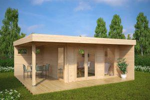 gartenhaus hansa lounge xl mit 2 optionalen extra fenstern - Fantastisch Moderne Gartenhuser