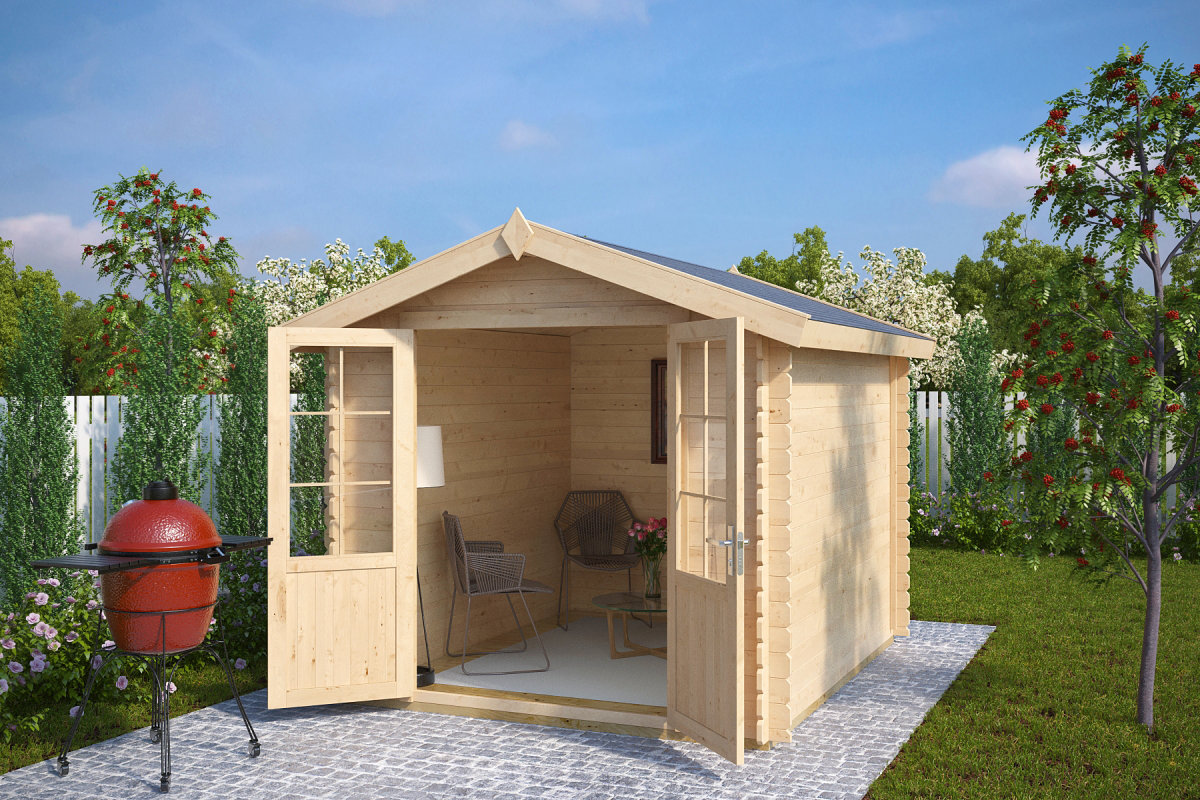 gartenhaus mit doppelt r anita l 6 2m 28mm 2x3. Black Bedroom Furniture Sets. Home Design Ideas
