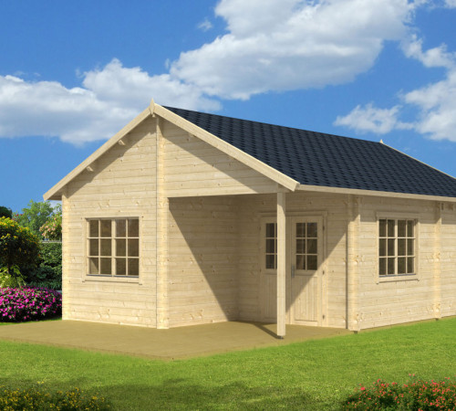 gartenhaus mit terrasse copenhagen 31m 50mm 5x7. Black Bedroom Furniture Sets. Home Design Ideas