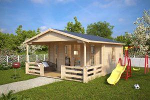 die 7 besten holzh user mit terrasse hansagarten24. Black Bedroom Furniture Sets. Home Design Ideas