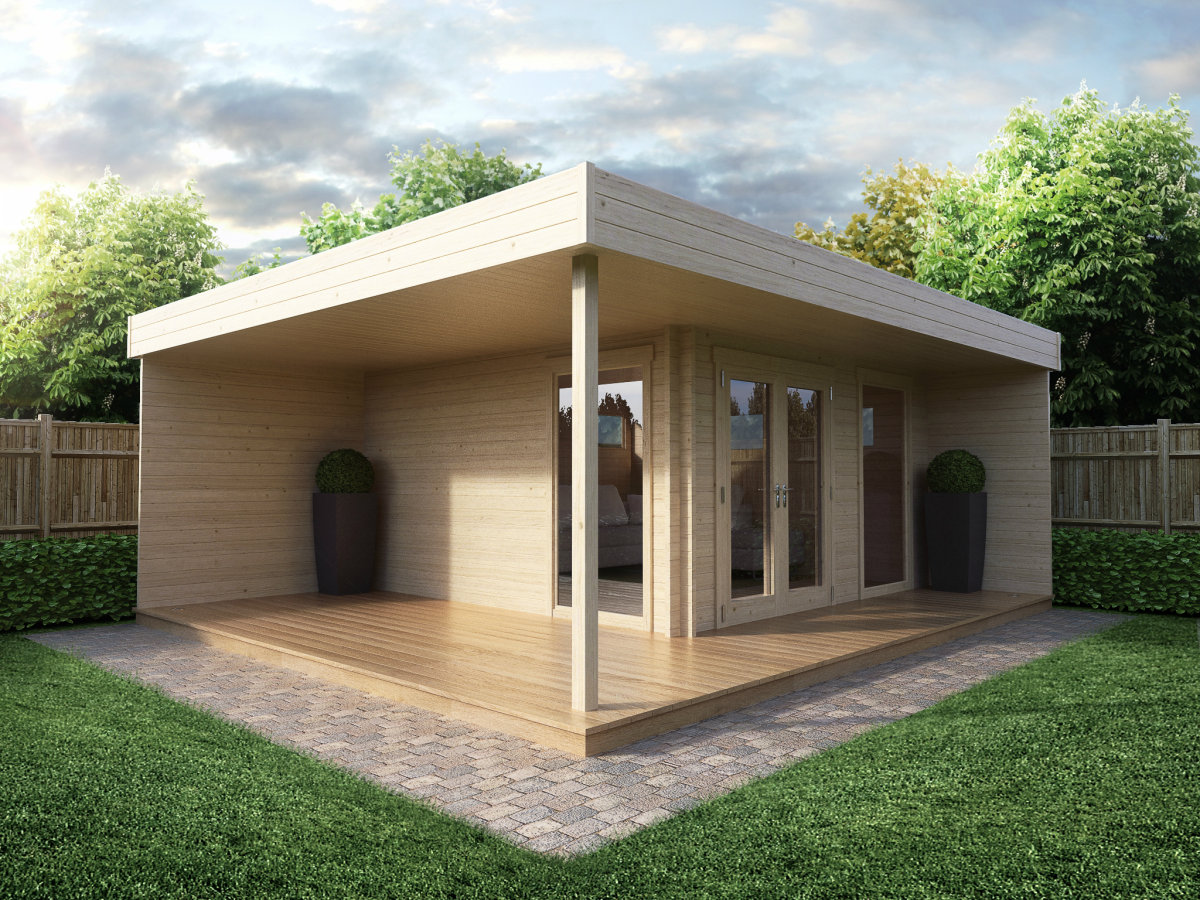 Moderne gartenh user aus holz hansagarten24 for Modern house uk