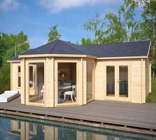 design gartenhaus royal suite 36m 44mm 8x6. Black Bedroom Furniture Sets. Home Design Ideas