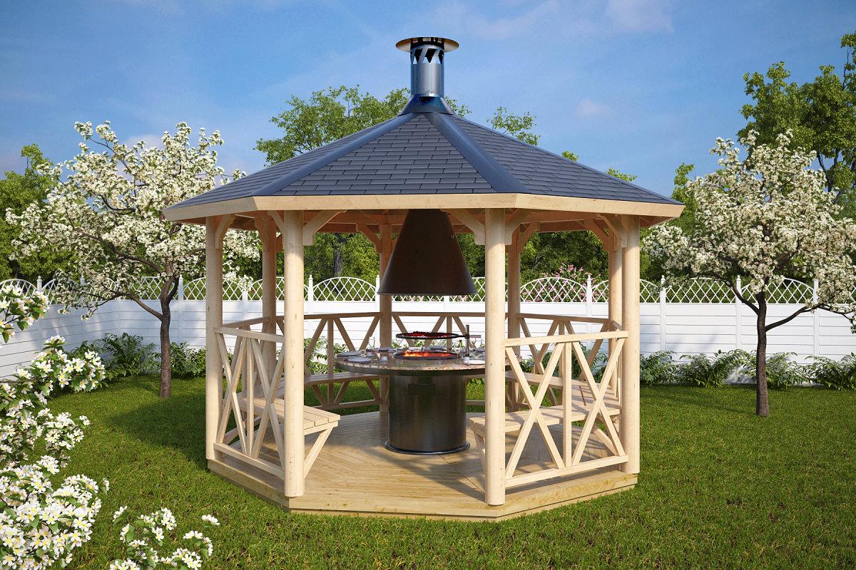 grillpavillon lotte l 9 5m hansagarten24. Black Bedroom Furniture Sets. Home Design Ideas