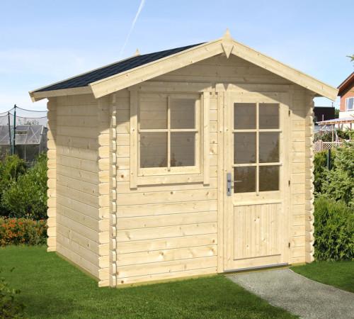 kleines holz gartenhaus anke s 4m 28mm 2x2. Black Bedroom Furniture Sets. Home Design Ideas