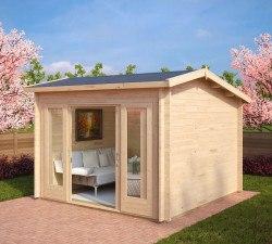 gartenh user mit schiebet r gartenhaus mit schiebet r kaufen hansagarten24. Black Bedroom Furniture Sets. Home Design Ideas