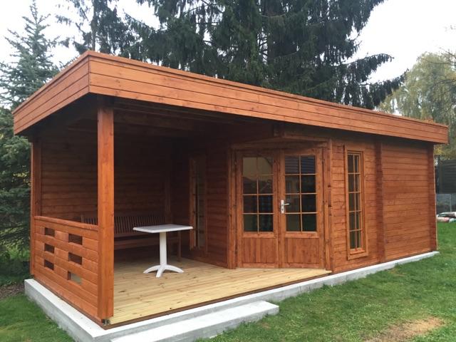 Gartensauna modern paula 12 5m 40mm 8x3 hansagarten24 - Gartensauna modern ...