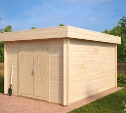 moderne gartenh user kaufen gartenhaus modern hansagarten24. Black Bedroom Furniture Sets. Home Design Ideas