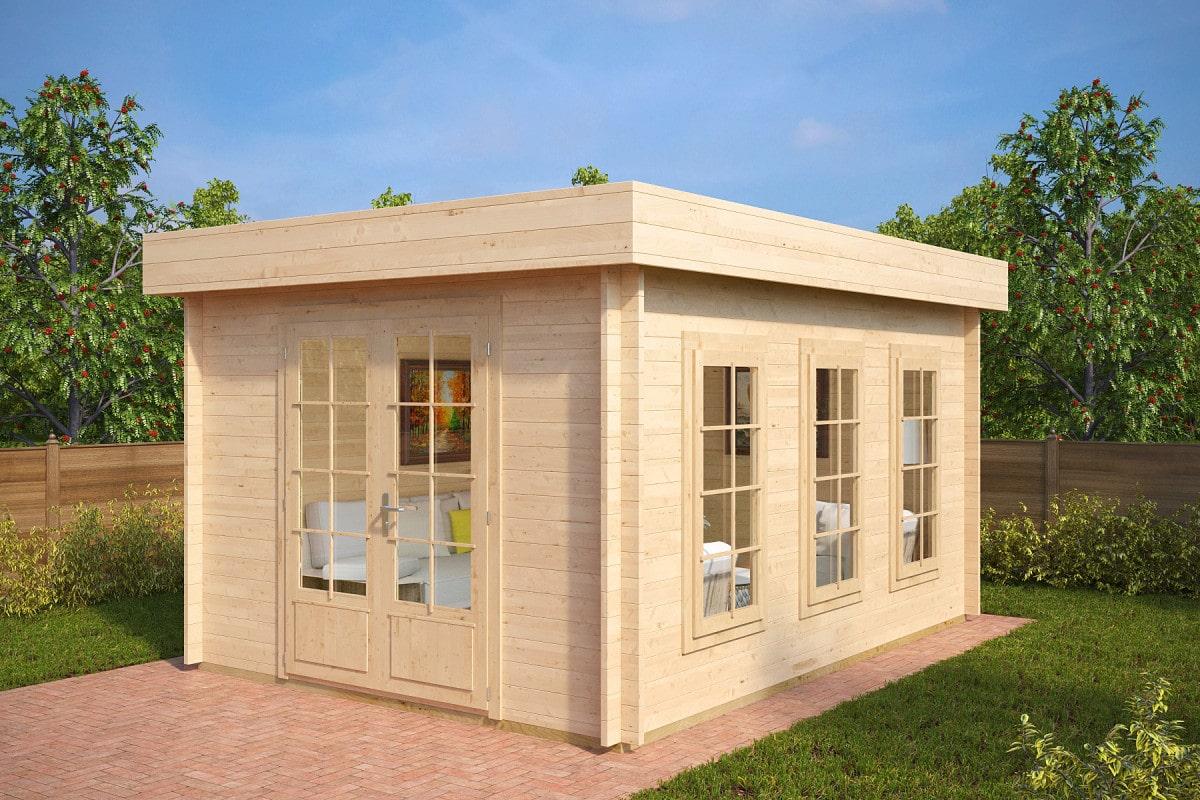 gartenhaus mit flachdach jacob b 12m 40mm 3x4. Black Bedroom Furniture Sets. Home Design Ideas