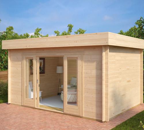gartenstudio gartenhaus mit schiebet r jacob e 12m 44mm 3x4 hansagarten24. Black Bedroom Furniture Sets. Home Design Ideas