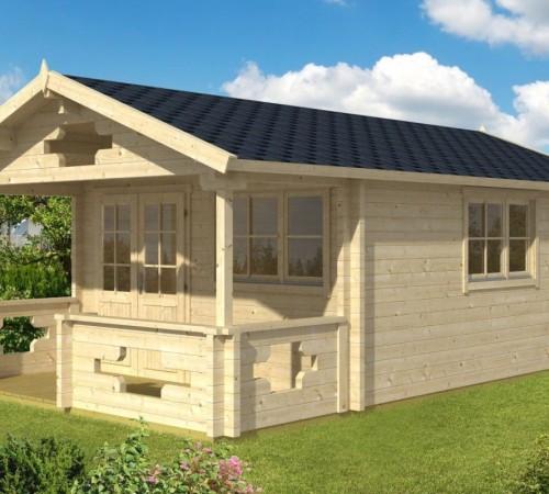 gartenhaus mit vordach und terrasse sommerland b 19m. Black Bedroom Furniture Sets. Home Design Ideas