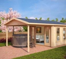 Gartenhaus mit Terrassendach Nora E