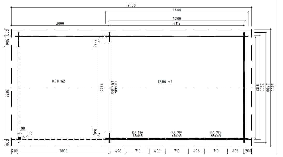 modernes holzhaus aus holz mit terrasse jacob e 12m. Black Bedroom Furniture Sets. Home Design Ideas