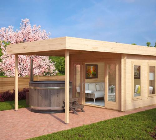 modernes gartenhaus gartenhaus modern mit terrasse lucas. Black Bedroom Furniture Sets. Home Design Ideas
