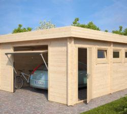 Moderne Garage D mit Schwingtor